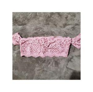 Victoria's Secret Bandeau (Pink-Size Small)
